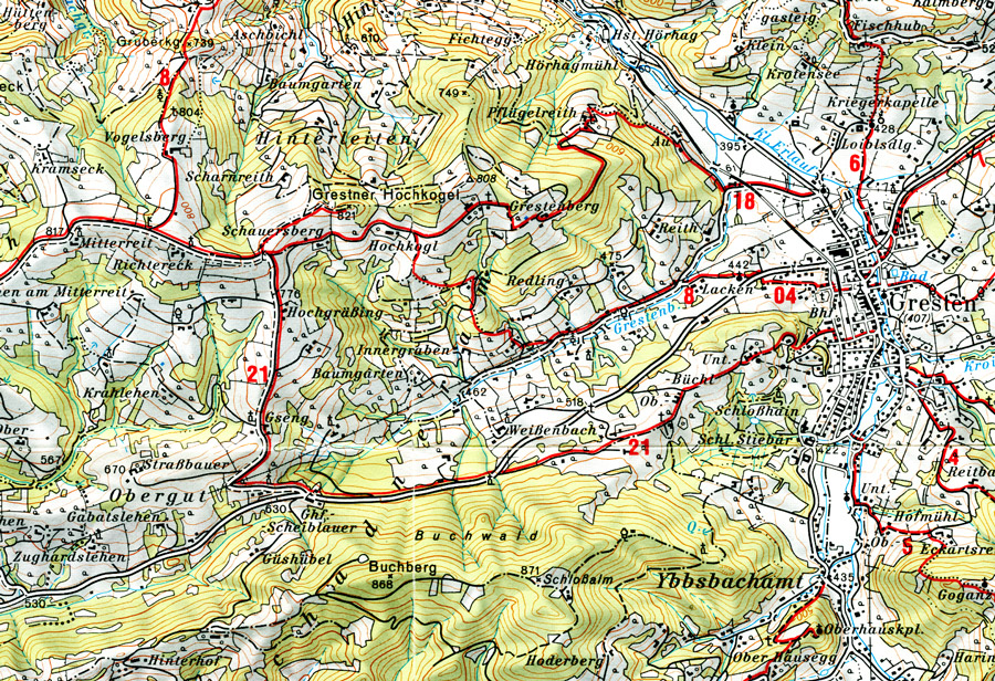 Geography Of The Hasselbachers Of GrestenLand - Topographic map of austria 2008