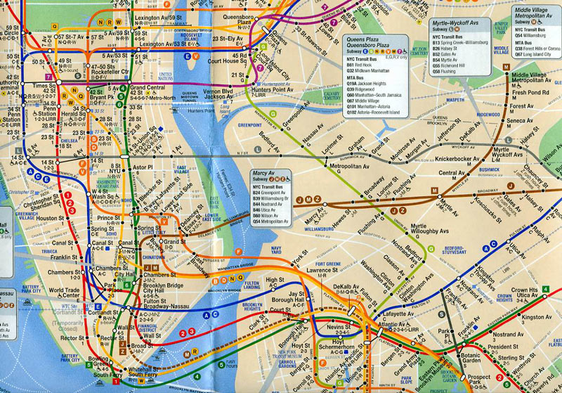 Subway Map Queens Ny